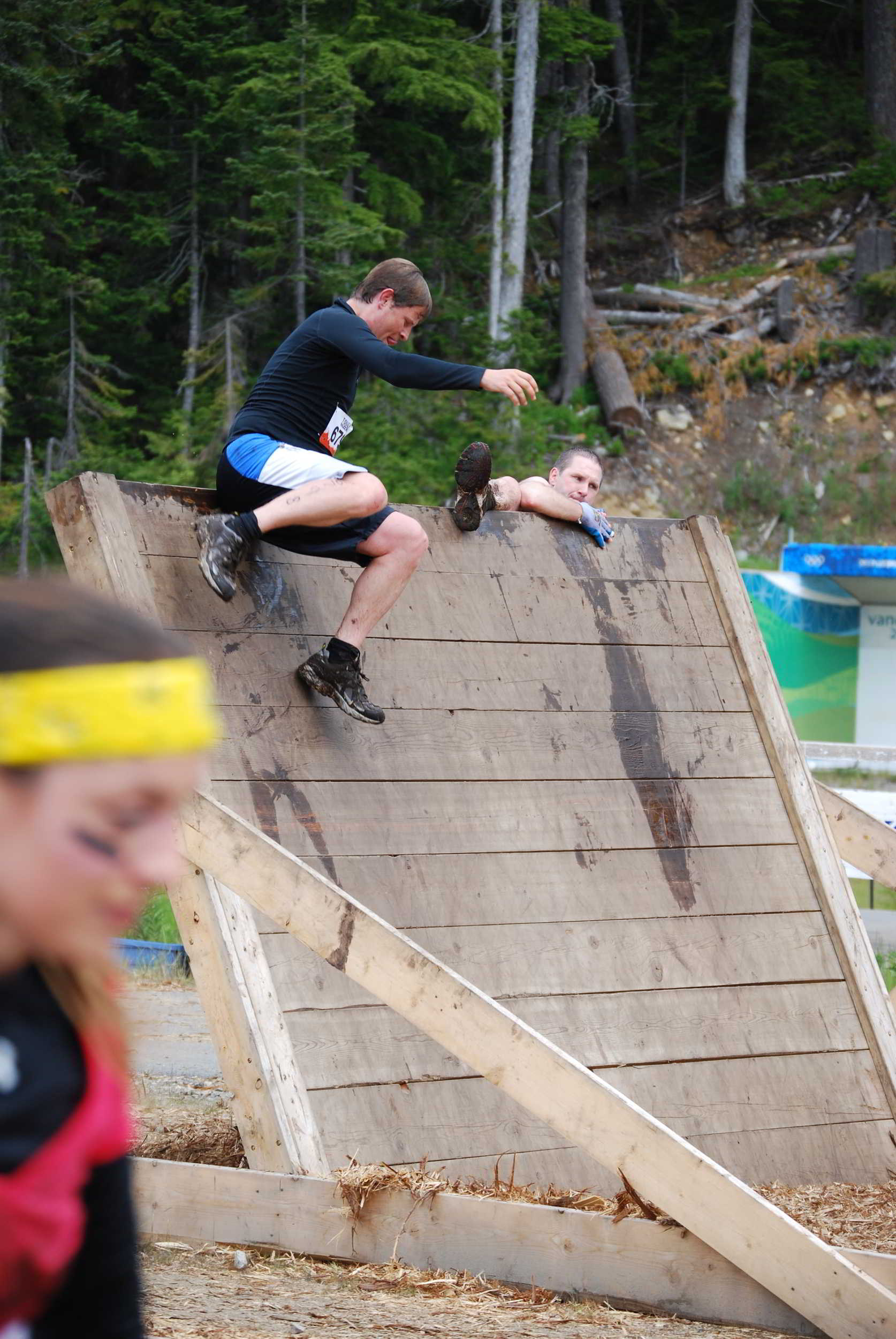 Crossing the Blades, Tough Mudder, Whistler, British Columbia, Canada